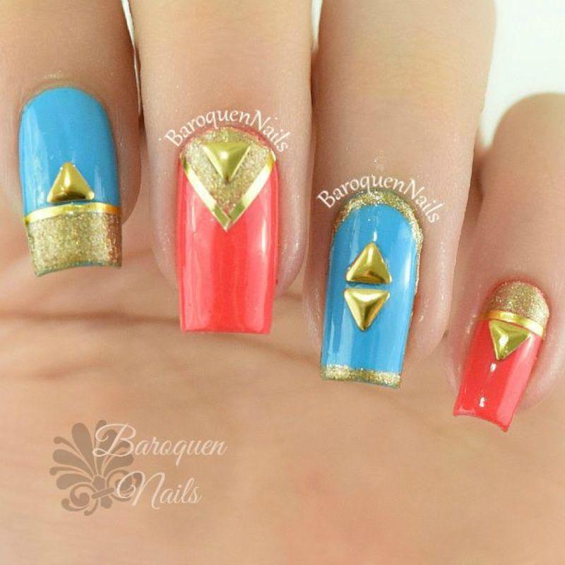 Gold Variation  nail art by BaroquenNails