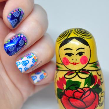 Matryoshka style  nail art by GlitterMySocksOff