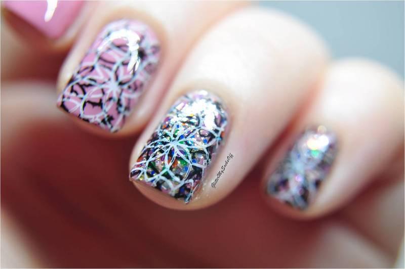 Glitter fiesta  nail art by GlitterMySocksOff