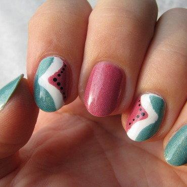 Watermelon nail art by Nail Crazinesss