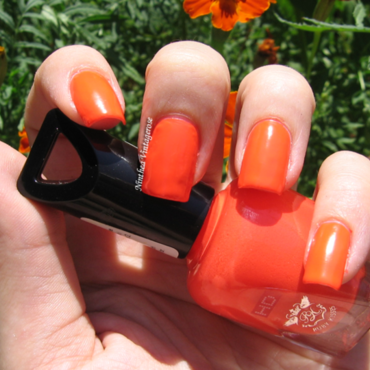 Ruby Kisses peach on fire Swatch by Ninthea