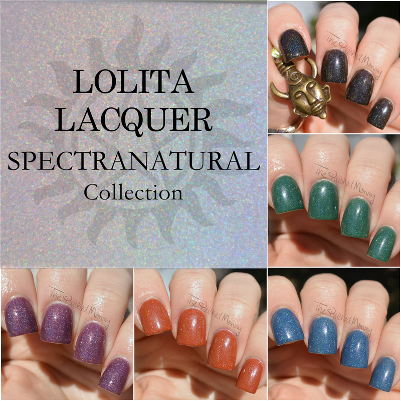 Lolita Lacquer Spectranatural Collection nail art by The Polished Mommy