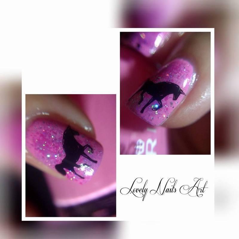 Nail art stamping *licorne* nail art by Lovely Nail's  Art