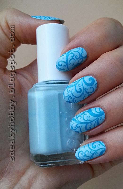Blue Heaven nail art by Mgielka M