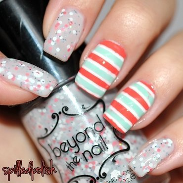 31DC2015: Stripes nail art by Maddy S