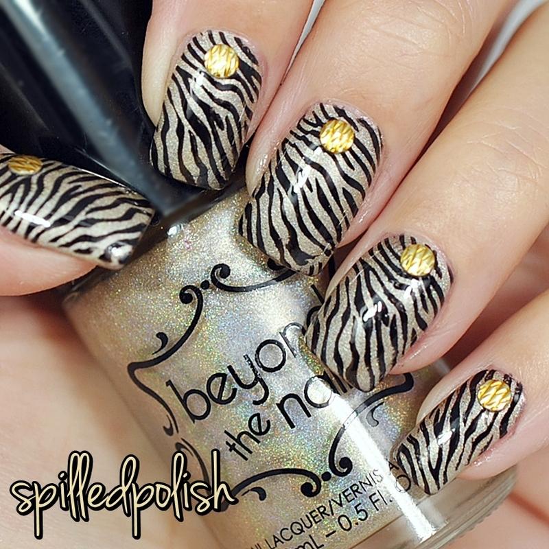 31DC2015: Animal Print nail art by Maddy S