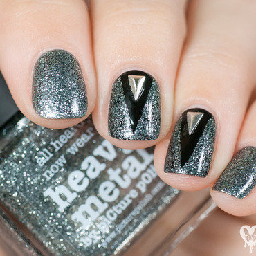 Heavy metal nail art by Lacquered Obsession