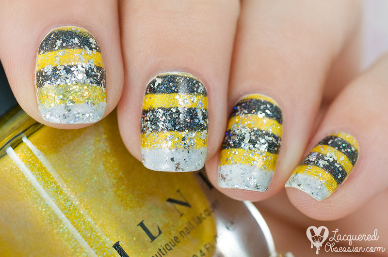 Bumble Bee Nail Art By Lacquered Obsession Nailpolis Museum Of