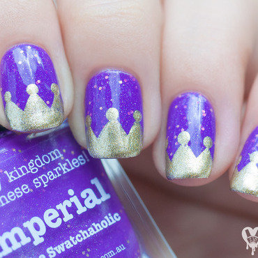 Imperial nail art by Lacquered Obsession