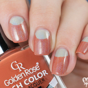 Autumn halfmoon nail art by Lacquered Obsession
