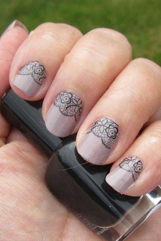 Lovely Lace nail art by HELEN KAY