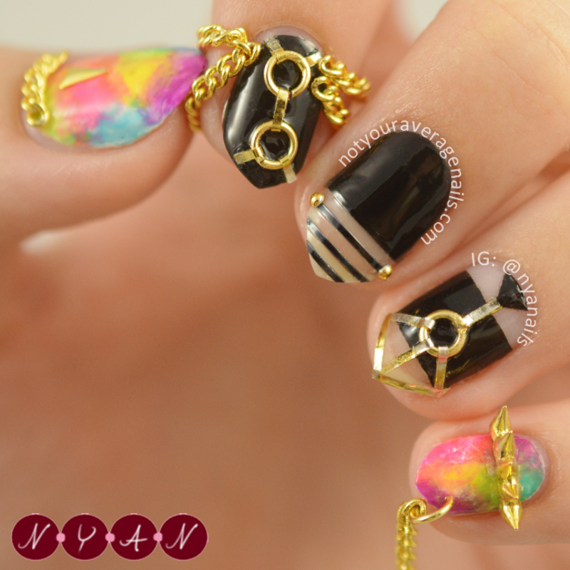You Think nail art by Becca (nyanails)
