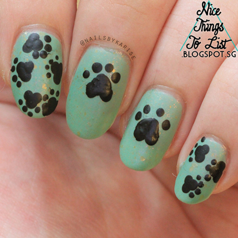 Paw Prints nail art by Karise Tan - Nailpolis: Museum of Nail Art