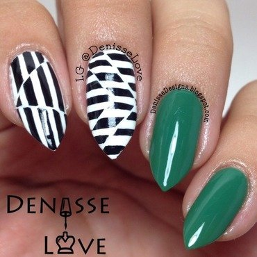 Jaded nail art by Denisse Love