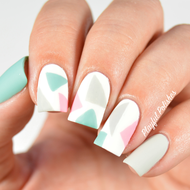 31DC2015: Day 16, Geometric nail art by Playful Polishes