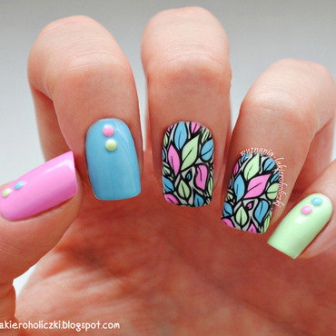 In enchanted garden nail art by Olaa