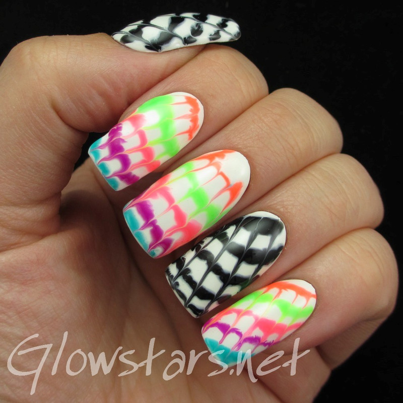 Tie Dye Manicure Using Gel Polish nail art by Vic 'Glowstars' Pires