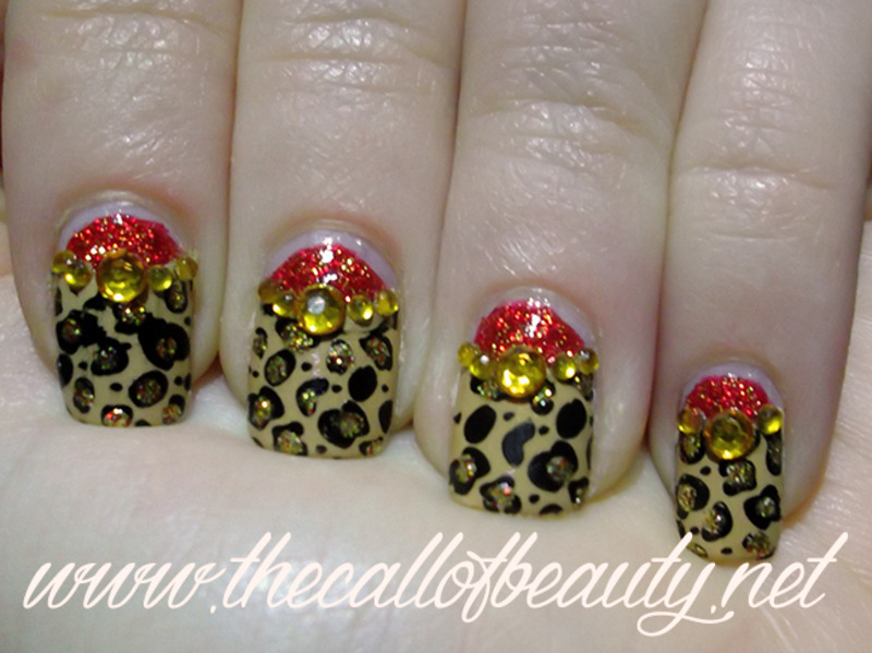 Leopard Moon nail art by The Call of Beauty