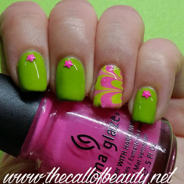 Nail 20art 20of 20the 20day 20  20lime 20green 20and 20fuchsia 20watermarble 20 18  20wm thumb370f