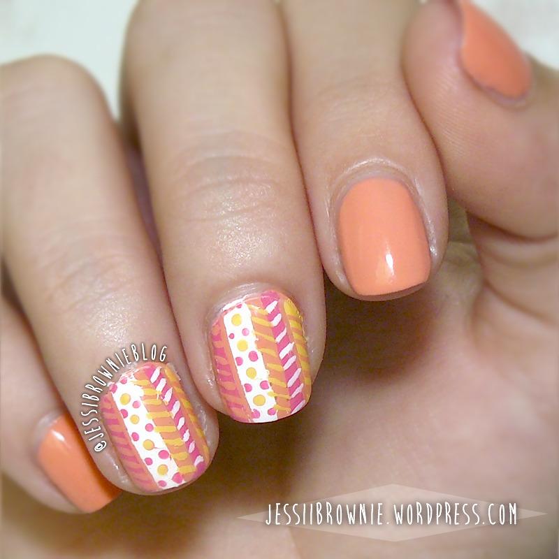 Wacky Tribals nail art by Jessi Brownie (Jessi)