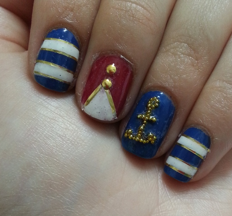 nautical nail art by Maya Harran