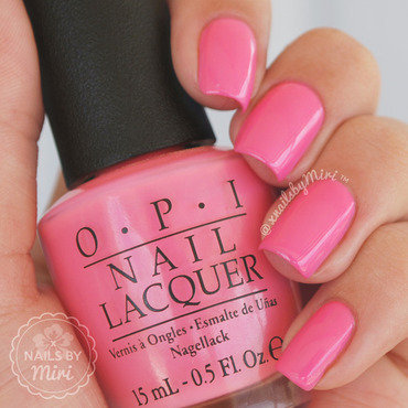 OPI Kiss Me I'm Brazilian Swatch by xNailsByMiri
