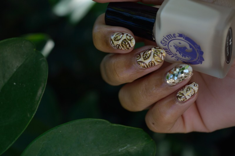 Dried leaves / Feuilles séchées nail art by MimieS Nail