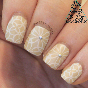 31dc2015 delicate print stamping l004 nail art thumb370f