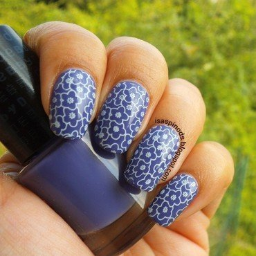 Estampando Flores - BP-78 de Born Pretty Store nail art by Isabel