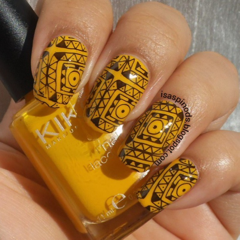 #retocolorescosasdechicasvol3 Semana 1 Amarillo nail art by Isabel