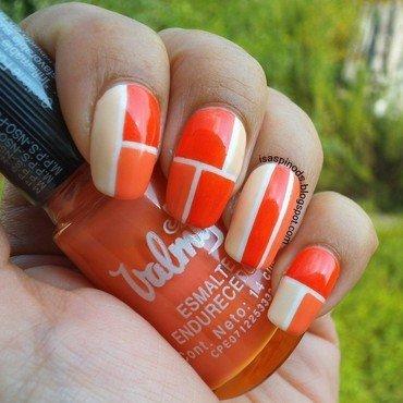 #retocolorescosasdechicasvol3 Semana 2 Naranja nail art by Isabel