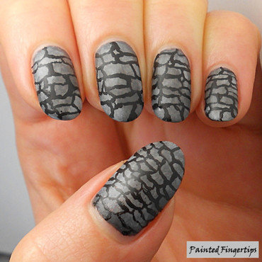 Stone wall nail art by Kerry_Fingertips
