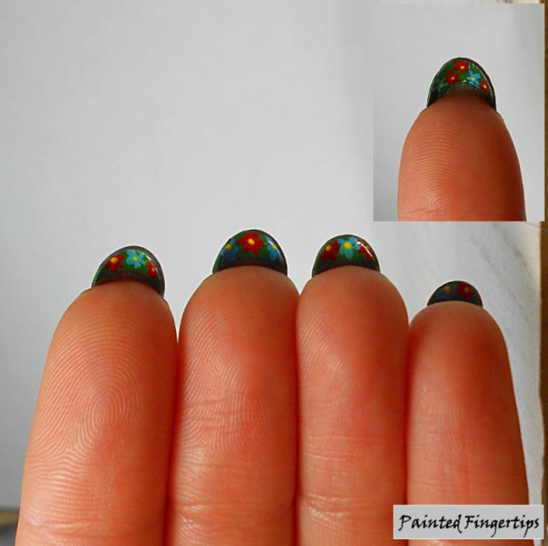 Secret Garden nail art by Kerry_Fingertips