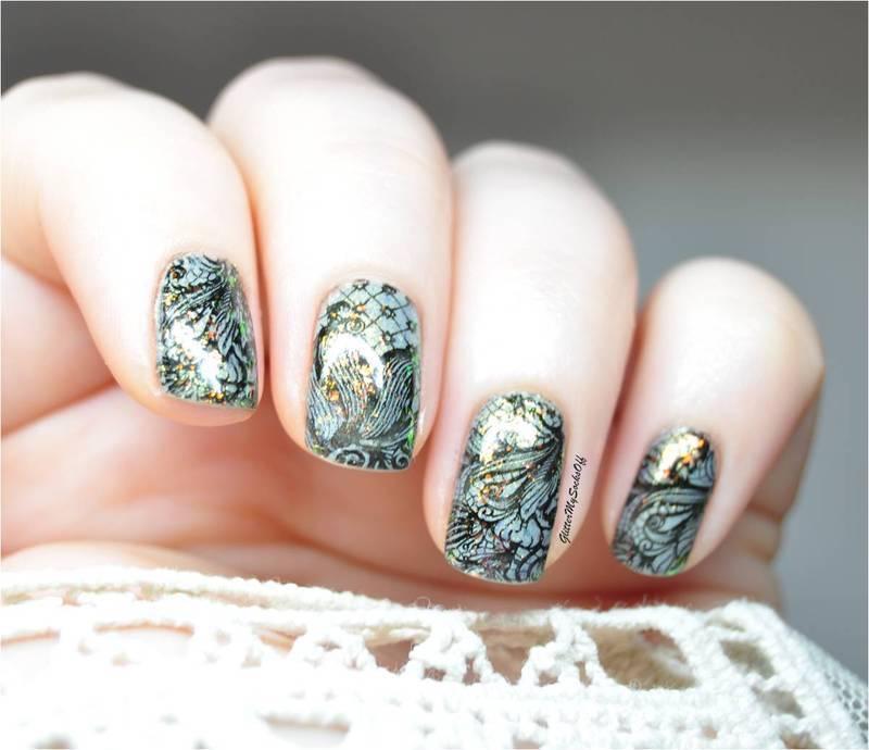 Lacy elegance nail art by GlitterMySocksOff