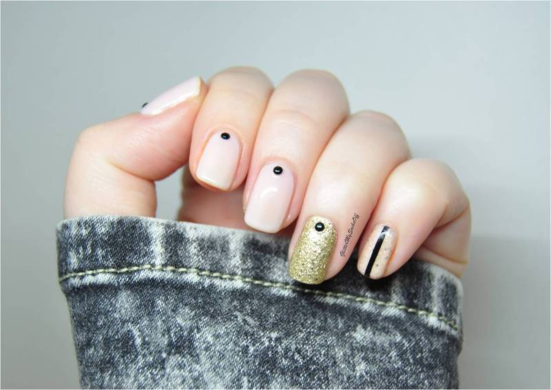 Urban dot nail art by GlitterMySocksOff