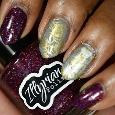 HPB Presents: Fall Leaves nail art by glamorousnails23