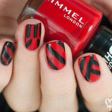 Turisas war paint nail art by Lacquered Obsession