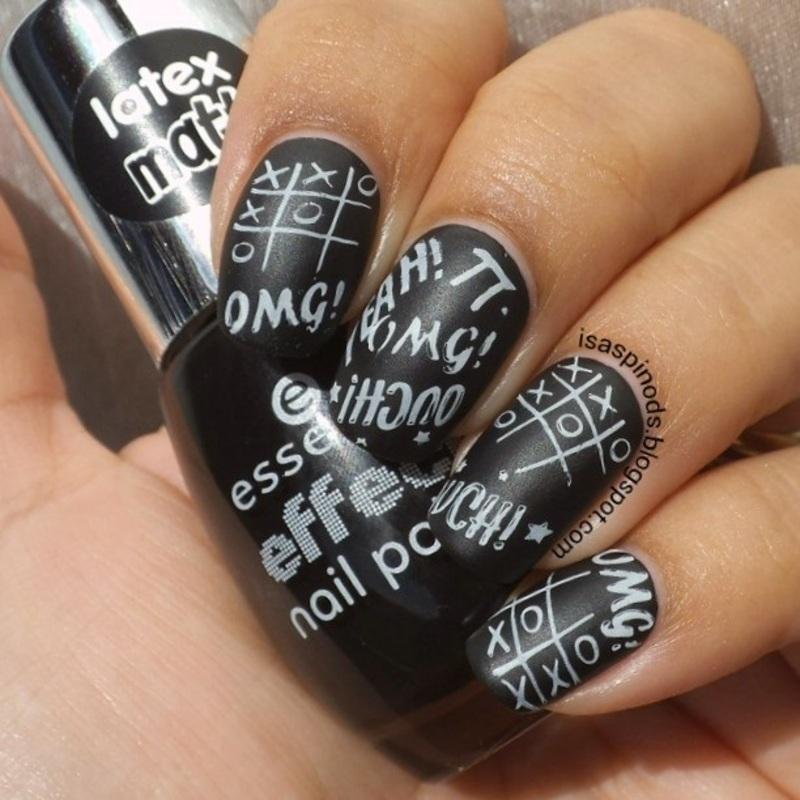 Uñas Mate para el Regreso a Clases nail art by Isabel