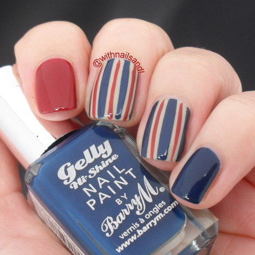 Pinstripe nail art by WithnailsandI