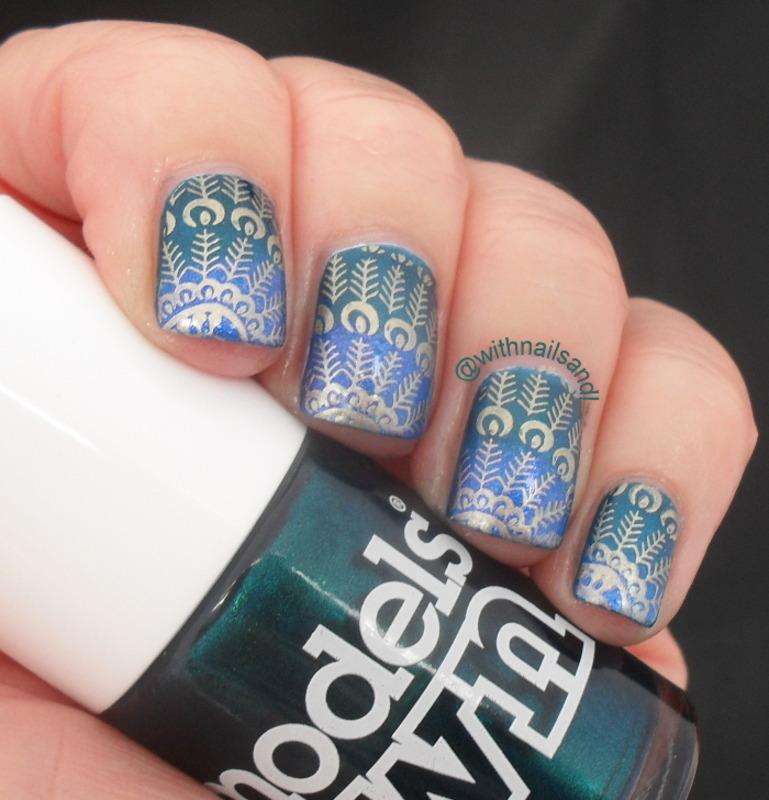 Peacock nail art by WithnailsandI