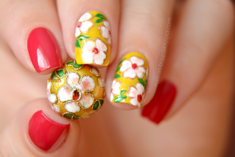 Bead inspired nails :)  nail art by bopp