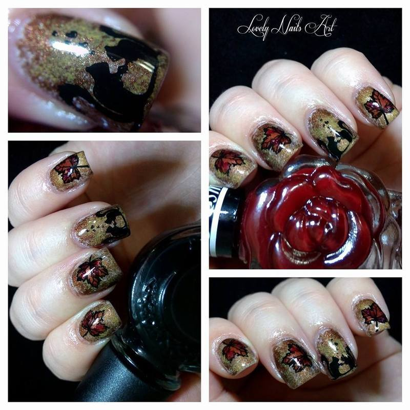 Nail art stamping *automne* nail art by Lovely Nail's  Art