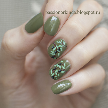 Olive tree nail art by Passionorkinda