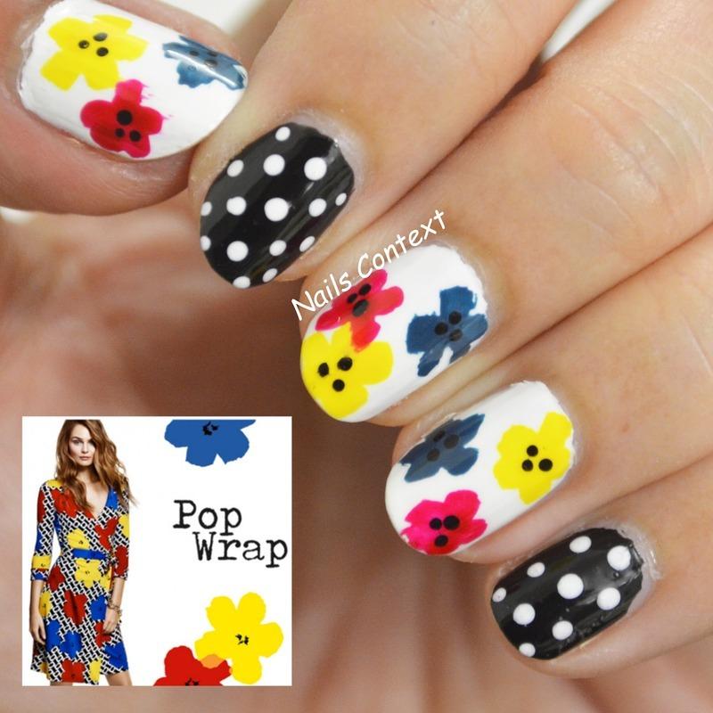DVF Inspired Nails nail art by NailsContext
