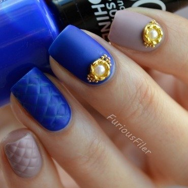 31dc2015 Inspired by fashion nail art by Furious Filer