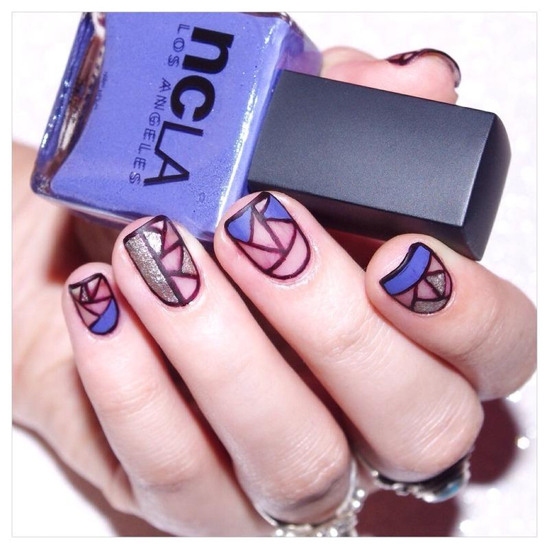 31DC2015 Geometric . nail art by Bulleuw