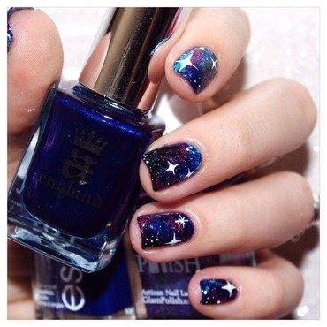 31DC2015 Galaxie ! nail art by Bulleuw