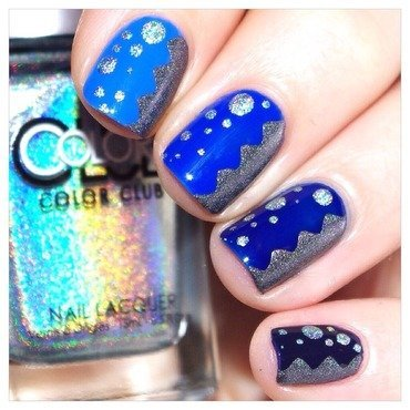 31DC2015 Inspired by a color : blue ! nail art by Bulleuw