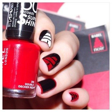 31DC2015 Inspired by a book. nail art by Bulleuw