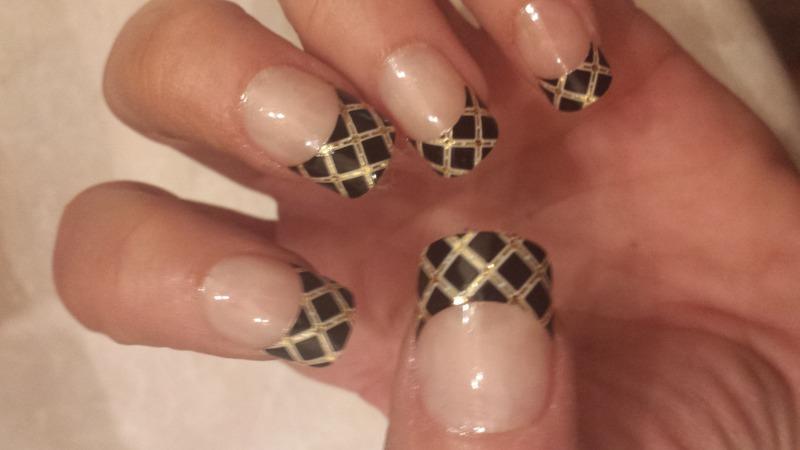 Crisscross French Manicure Nail Art By Teena Breedon Nailpolis